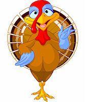 Illustration of a cartoon turkey Stock Photo - Royalty-Freenull, Code: 400-06396315