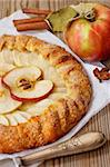 Delicious apple pie and spices. Stock Photo - Royalty-Free, Artist: lidante                       , Code: 400-06397221