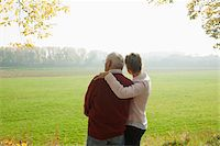 Mature Woman with Senior Father in Autumn, Lampertheim, Hesse, Germany Stock Photo - Premium Royalty-Freenull, Code: 600-06397462