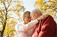 Mature Woman with Senior Father in Autumn, Lampertheim, Hesse, Germany Stock Photo - Premium Royalty-Freenull, Code: 600-06397465