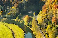 House and Railroad Tracks in Danube Valley, near Beuron, Baden-Wurttemberg, Germany Stock Photo - Premium Rights-Managednull, Code: 700-06397553