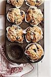 Tin of Blueberry Muffins Stock Photo - Premium Royalty-Free, Artist: Jodi Pudge, Code: 600-06397645