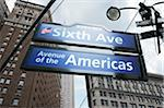 Intersection of 6th Avenue and 39th Street, New York City, New York, USA Stock Photo - Premium Royalty-Free, Artist: Andrew Kolb, Code: 600-06397739