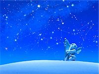 Constellations and Angel Stock Photo - Premium Royalty-Freenull, Code: 622-06398375