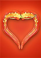 spicy - Close up of halved chili pepper Stock Photo - Premium Royalty-Freenull, Code: 649-06400885