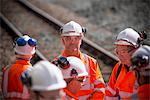Railway workers talking outdoors Stock Photo - Premium Royalty-Free, Artist: Cultura RM, Code: 649-06400979