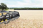 Harvester working in crop field Stock Photo - Premium Royalty-Free, Artist: Cultura RM, Code: 649-06401241