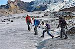 Family walking on glacier Stock Photo - Premium Royalty-Free, Artist: Cultura RM, Code: 649-06401327