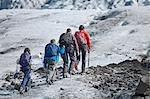 Family walking on glacier Stock Photo - Premium Royalty-Free, Artist: Blend Images, Code: 649-06401329