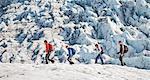 Family walking on glacier Stock Photo - Premium Royalty-Free, Artist: Blend Images, Code: 649-06401332