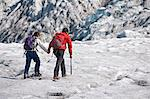 Mother and daughter walking on glacier Stock Photo - Premium Royalty-Free, Artist: Westend61, Code: 649-06401335