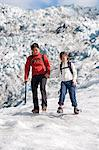 Mother and daughter walking on glacier Stock Photo - Premium Royalty-Free, Artist: Blend Images, Code: 649-06401338