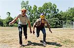Two young men wearing wrestling masks Stock Photo - Premium Royalty-Free, Artist: CulturaRM, Code: 614-06402604