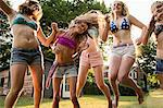 Girls dancing in garden Stock Photo - Premium Royalty-Free, Artist: ableimages, Code: 614-06402678