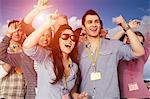 People cheering at a music festival Stock Photo - Premium Royalty-Free, Artist: Aflo Sport, Code: 614-06402708
