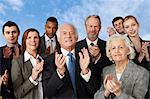 Businesspeople clapping Stock Photo - Premium Royalty-Free, Artist: ableimages, Code: 614-06402717