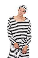 Old fashioned convict looks at camera Stock Photo - Premium Royalty-Freenull, Code: 693-06403605