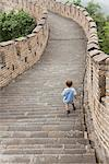 Boy walking on Great Wall of China, China Stock Photo - Premium Royalty-Free, Artist: Robert Harding Images, Code: 632-06404407