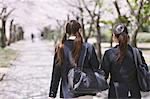 Japanese schoolgirls walking away in their uniforms Stock Photo - Premium Rights-Managed, Artist: Aflo Relax, Code: 859-06404856