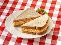 pimento - Pimiento Cheese sandwich on wheat bread Stock Photo - Premium Royalty-Freenull, Code: 618-06405222