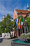 Flags of Ravensburg, Baden-Wurttemberg and Italy Ravensburg, Baden-Wurttemberg, Germany Stock Photo - Premium Royalty-Free, Artist: Robert Harding Images, Code: 618-06405349