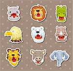 angry animal stickers Stock Photo - Royalty-Free, Artist: notkoo2008                    , Code: 400-06408389