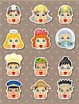 people face stickers Stock Photo - Royalty-Free, Artist: notkoo2008                    , Code: 400-06408390