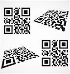 Simple qr code icon. Vector illustration eps8