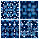 Set of four geometric seamless backgrounds. Stock Photo - Royalty-Free, Artist: Sylverarts                    , Code: 400-06409498