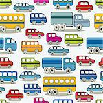Cartoon retro cars seamless pattern, comic illustration. Stock Photo - Royalty-Free, Artist: Sylverarts                    , Code: 400-06409517