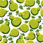 Bright beautiful fruits background – ripe tasty pears seamless pattern. Stock Photo - Royalty-Free, Artist: Sylverarts                    , Code: 400-06409558