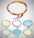 Abstract sketch style speech bubbles, set of color and shape versions. Vector banners collection. Stock Photo - Royalty-Free, Artist: Sylverarts                    , Code: 400-06409695