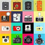 Illustration of Camera's History. Very Useful for Photography Theme. Stock Photo - Royalty-Free, Artist: escova                        , Code: 400-06411586