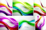 Set of abstract wave backgrounds. For normal quality increase steps in blending options Stock Photo - Royalty-Free, Artist: antishock                     , Code: 400-06412105