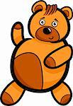 Illustration of Cute Teddy Bear Cartoon Character