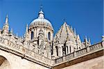 Detail of the Crossing Tower of the Old Cathedral and the Dome of the New Cathedral in Salamanca, Spain Stock Photo - Royalty-Free, Artist: ribeiroantonio                , Code: 400-06414304