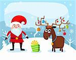 vector illustration of a christmas card Stock Photo - Royalty-Free, Artist: nem4a                         , Code: 400-06416248