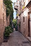 The narrow street with old houses, Croatia Stock Photo - Royalty-Free, Artist: nazzu                         , Code: 400-06417608