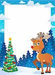 Christmas theme frame 5 - vector illustration. Stock Photo - Royalty-Free, Artist: clairev                       , Code: 400-06419913