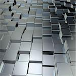 metal cubes background - 3d illustration Stock Photo - Royalty-Free, Artist: drizzd                        , Code: 400-06420191