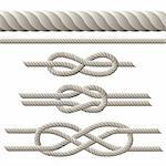 Seamless rope and rope with different knots. Vector illustration Stock Photo - Royalty-Free, Artist: tassel78                      , Code: 400-06422564