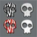 Skulls. Element for your design. Eps10. Stock Photo - Royalty-Free, Artist: Diddle                        , Code: 400-06423939