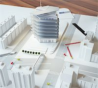 architectural model of a modern building Stock Photo - Royalty-Freenull, Code: 400-06424061