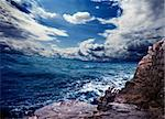 Ocean storm and rocks Stock Photo - Royalty-Free, Artist: carloscastilla                , Code: 400-06424322