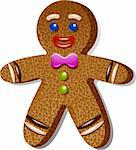 Gingerbread man Stock Photo - Royalty-Free, Artist: jara3000                      , Code: 400-06425903