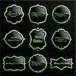 Vector set of christmas green luxury labels. Stock Photo - Royalty-Free, Artist: MiloArt                       , Code: 400-06427024