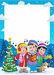 Christmas theme frame 9 - vector illustration. Stock Photo - Royalty-Free, Artist: clairev                       , Code: 400-06427249