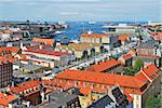 Copenhagen, Denmark.  Bird's eye view of the city Stock Photo - Royalty-Free, Artist: TatyanaSavvateeva             , Code: 400-06428364
