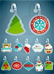 Set of Christmas stickers. Vector illustration. Stock Photo - Royalty-Free, Artist: avian                         , Code: 400-06428815