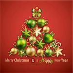 Christmas card with place for text. Vector illustration. Stock Photo - Royalty-Free, Artist: avian                         , Code: 400-06428823
